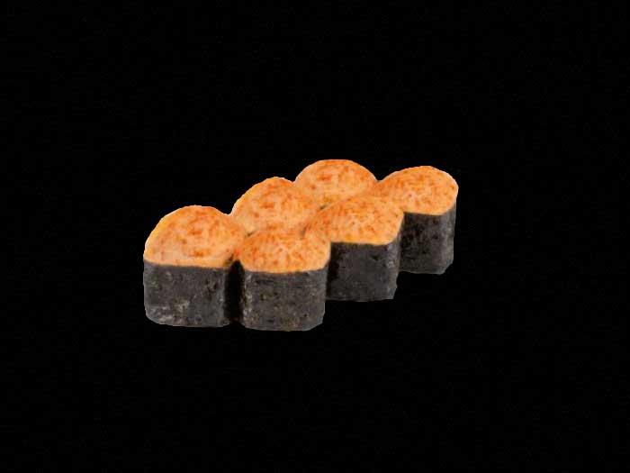 Запеченные мини роллы с копченным лососем